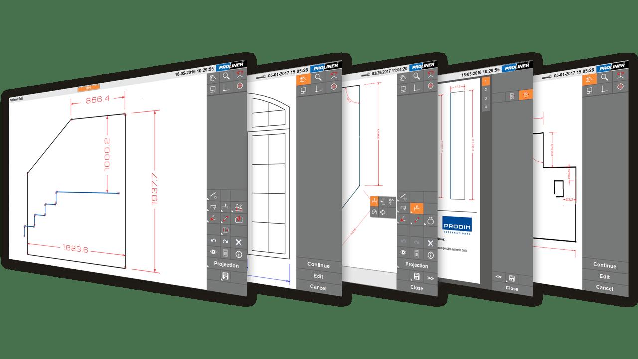 Captures d'écran Prodim - Logiciel Proliner Glass CT
