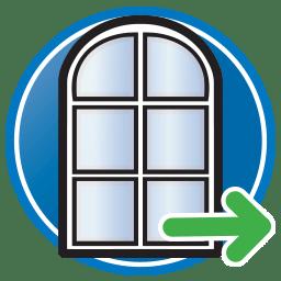 Bouton Suivant permettant d'accéder à la page de solutions pour cadres de portes et fenêtres de Prodim