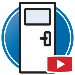 Bouton permettant de regarder des vidéos Proliner de modélisation numérique de portes