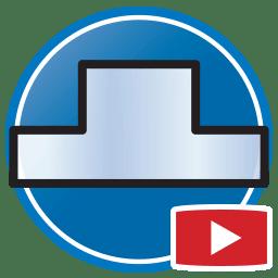 Bouton permettant de regarder des vidéos Proliner de modélisation numérique de dosserets en verre