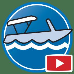 Bouton permettant de regarder des vidéos Proliner de modélisation numérique de tauds d'embarcation