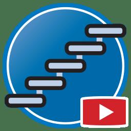 Bouton permettant de regarder des vidéos Proliner de modélisation numérique d'escaliers