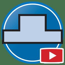 Bouton permettant de regarder des vidéos Proliner de modélisation numérique de dosserets en pierre