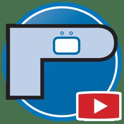 Bouton permettant de regarder des vidéos Proliner de modélisation numérique de plans de travail en pierre