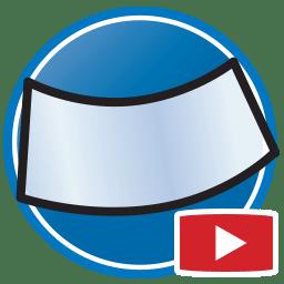 Bouton permettant de regarder des vidéos Proliner de modélisation numérique de vitres et pare-brise