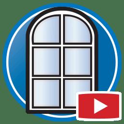 Bouton permettant de regarder des vidéos Proliner de modélisation numérique de fenêtres