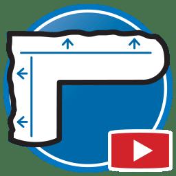 Bouton permettant de regarder des vidéos Proliner de mesure de modèles physiques pour des produits en verre