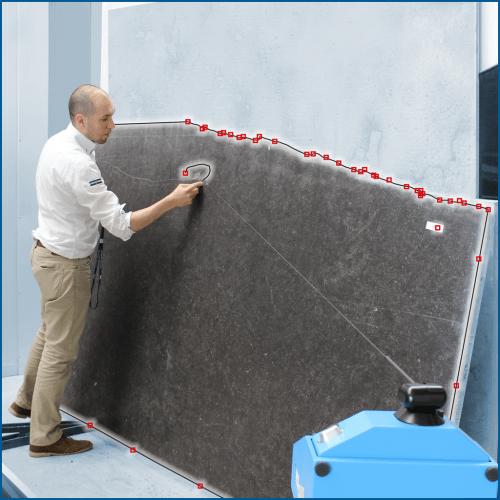 Bouton - Accéder aux Solutions industrielles Prodim dédiées à la pierre