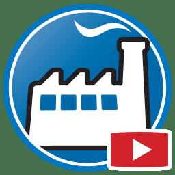 Bouton permettant de regarder des vidéos du logiciel de gestion d'activités Prodim Factory