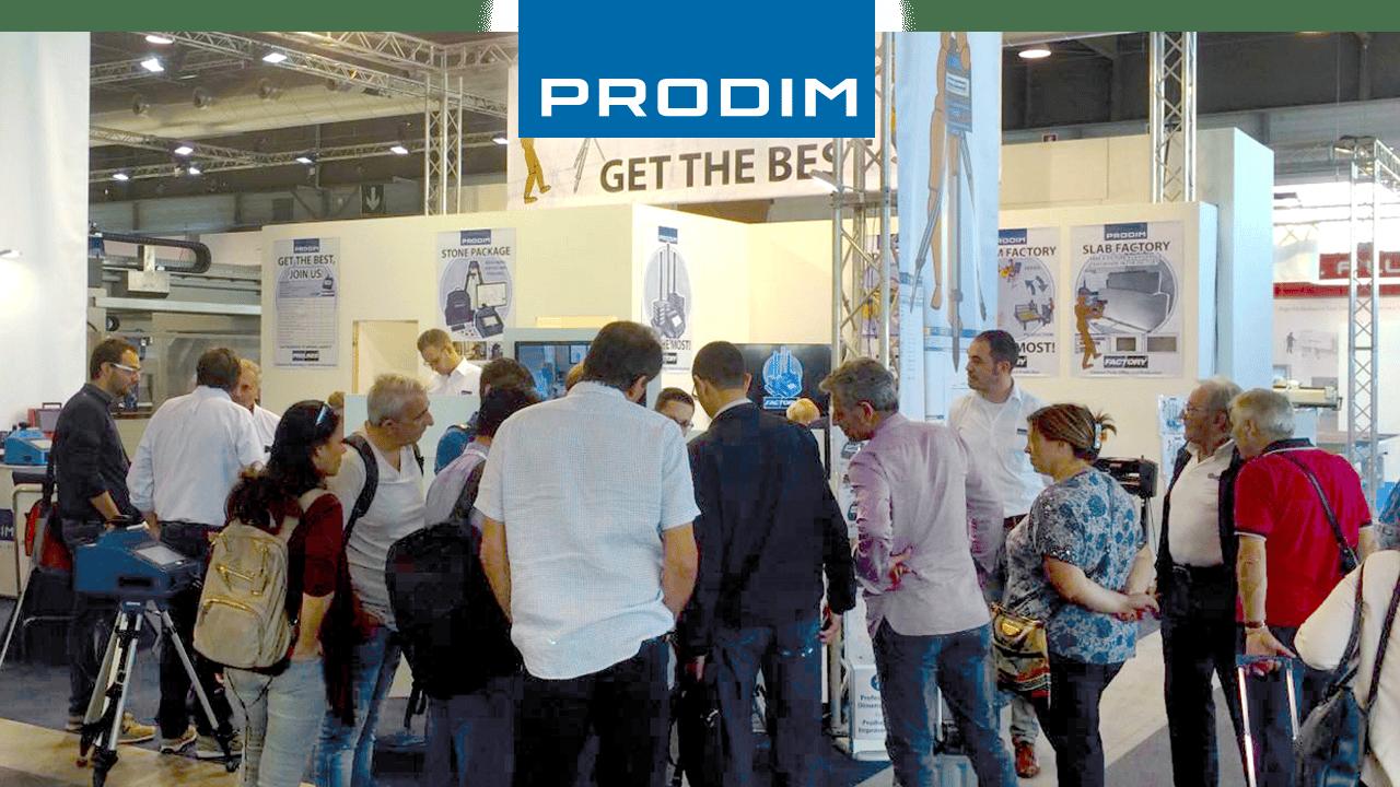 Prodim expose dans le monde entier - Salon de la pierre Marmomac, Italie