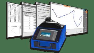 Captures d'écran du logiciel Prodim TubeCheck et image d'un Proliner 10IS