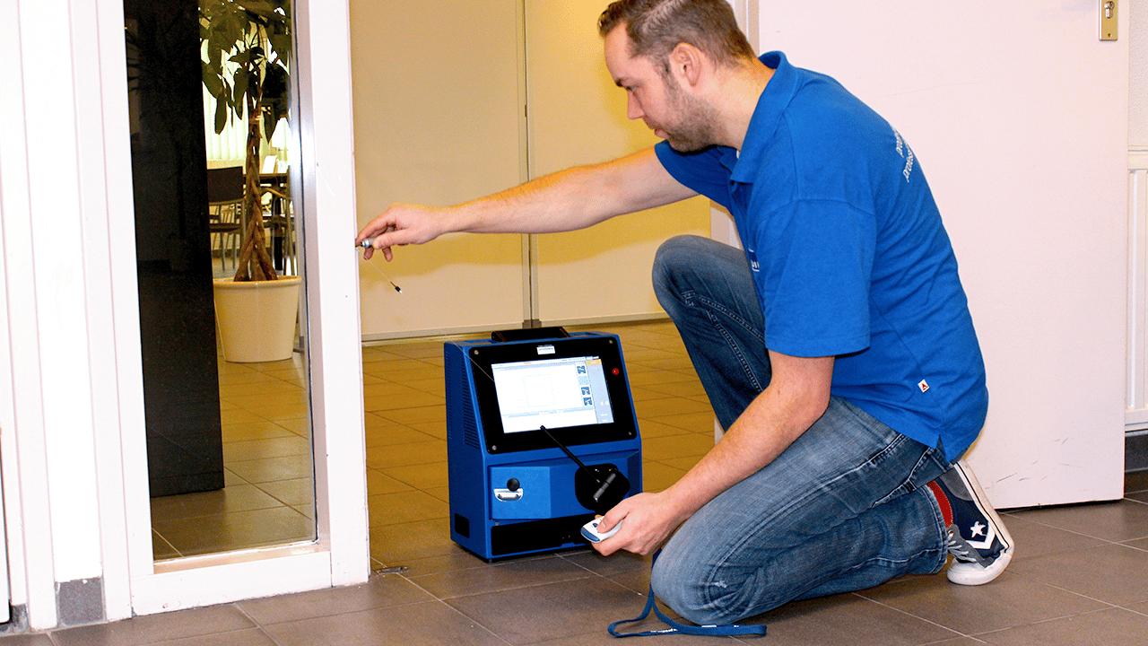 Solutions industrielles Prodim dédiées aux portes et fenêtres - Mesure de portes