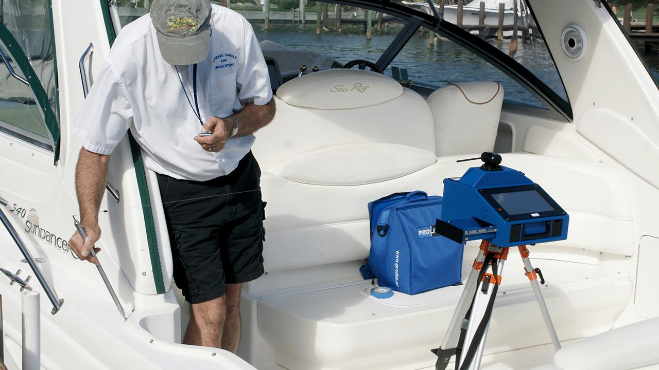 Prodim Proliner IPT - Utilisé dans le secteur de la marine pour mesurer des points difficiles d'accès