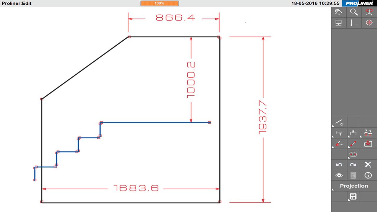 Solutions industrielles Prodim dédiées au verre architectural - Balustrade - Modèle numérique