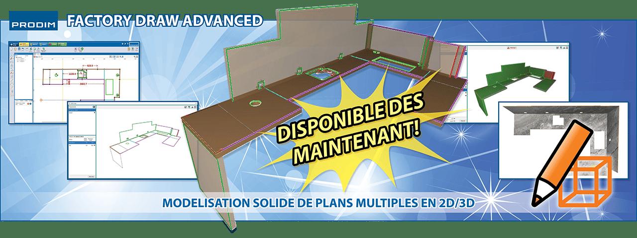Prodim Factory Draw Advanced - Modelisation solide de plans multiples en 2D/3D - Voir la vidéo
