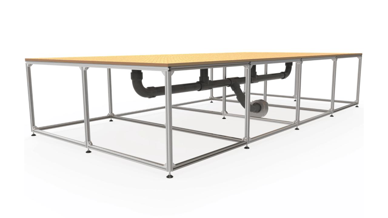 Dessin de l'option de table à vide du traceur Prodim