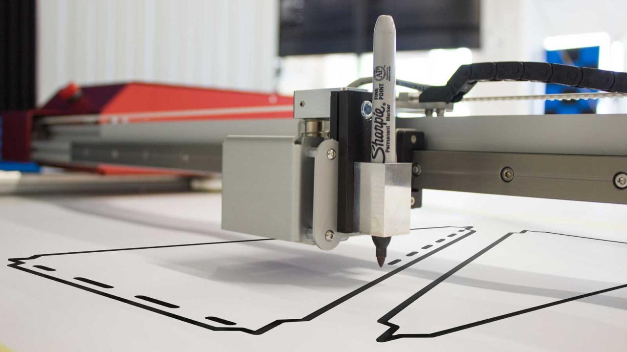 Image du traceur Prodim avec un marqueur