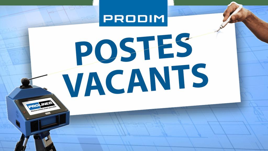 Prodim - Postes vacants