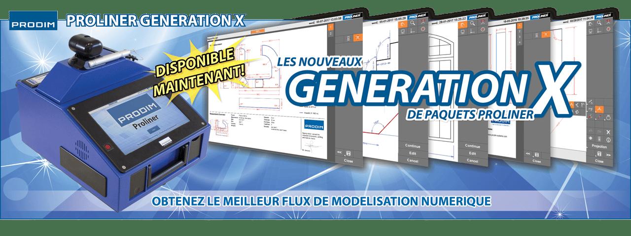 Slider - Prodim Proliner Generation X paquets - Obtenez le meilleur flux de modelisation numerique