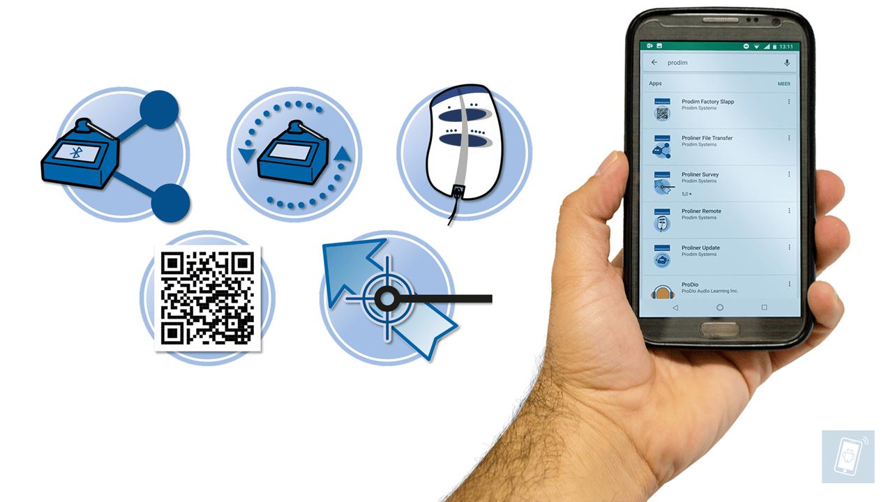 Applications du Prodim pour smartphone